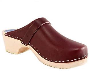 Cape Clogs Leather Clogs - Burgundy