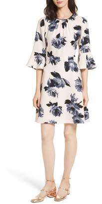 Kate Spade New York Night Rose Ruffle Sleeve Dress