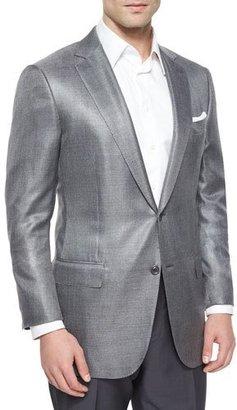 Ermenegildo Zegna Wool-Blend Two-Button Blazer, Gray $2,495 thestylecure.com