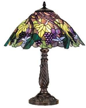"Tiffany & Co. Meyda Floral Animals Spiral Grape 22"" Table Lamp Meyda"