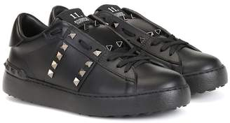 Valentino Rockstud Untitled Noir leather sneakers