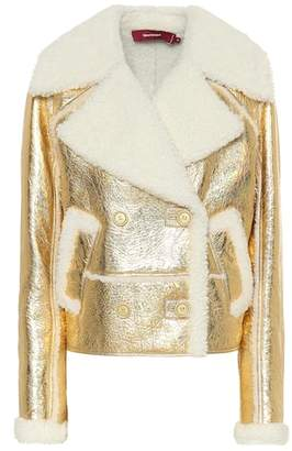 Sies Marjan Hensley metallic shearling jacket