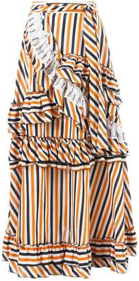 Isabela Capeto stripe ruffled skirt