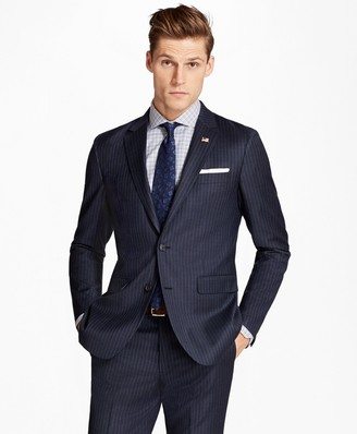 Brooks Brothers Milano Fit Stripe 1818 Suit