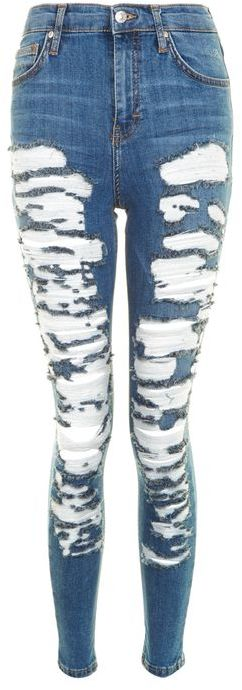 Topshop Topshop Moto extreme ripped jamie jeans