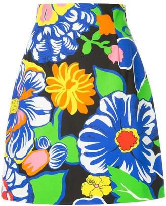 MSGM high-waisted floral print skirt