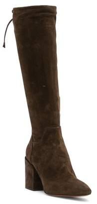 Aquatalia Floriana Suede Mid-Calf Boot