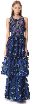 Marchesa Notte Embroidered Gown $1,295 thestylecure.com