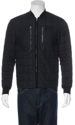 Lanvin Wool-Trimmed Quilted Jacket