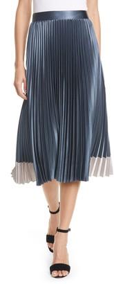 Ted Baker Glaycie Colorbock Detail Pleated Skirt
