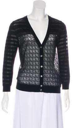 Nina Ricci Semi-Sheer Knit Cardigan