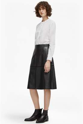 French Connection Gizo Leather A Line Skirt