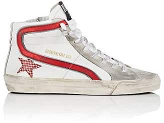 """Golden Goose Women's """"Slide"""" Suede & Leather Sneakers"""