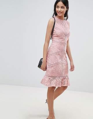 New Look Lace Crochet Trim Dress
