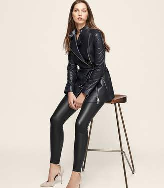 Reiss Rene Leather Belted Jacket