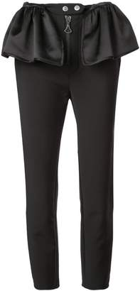 Ellery flared patches trousers