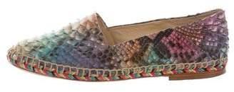 Alexandre Birman Python Multicolor Espadrilles