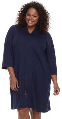Croft & Barrow Plus Size Quilted Zip-Up Duster Robe