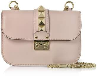 Valentino Lock Small Leather Chain Shoulder Bag