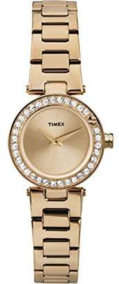 Timex Women's Starbright Crystal Dial -Tone Case & Band Dress Watch T2P540