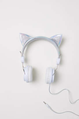 H&M On-ear Headphones with Ears - Silver