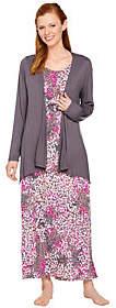 Carole Hochman Abstract Hydrangea Rayon SpandexLounge DressSet