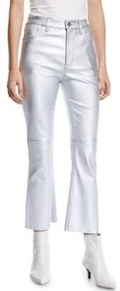 Current/Elliott The High Waist Kick Flare-Leg Leather Pants
