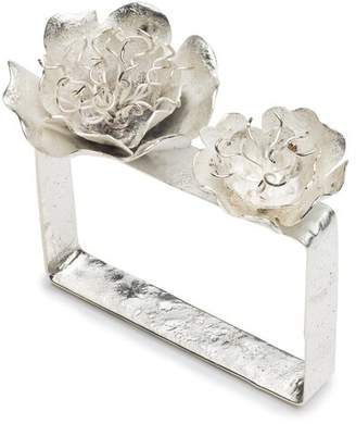 Josie Natori Silver Plated Brass Peony Bracelet
