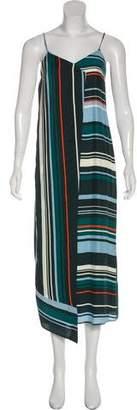 Veda Silk Striped Sleeveless Maxi Dress