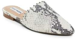 Steve Madden Trace-B Snake Print Leather Mules