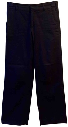 Bally Black Cotton Trousers for Women