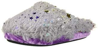 Dearfoams Girls Star Pile Clog Slipper