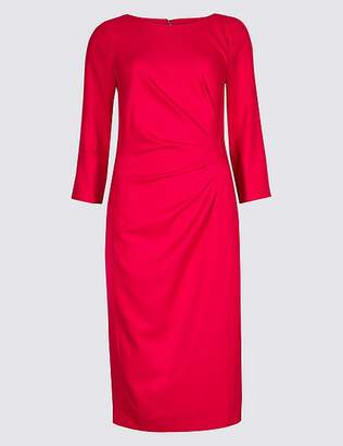 Marks and Spencer Twisted Front 3/4 Sleeve Bodycon Midi Dress