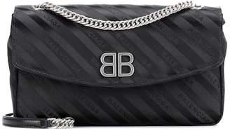 Balenciaga Chain Round S jacquard shoulder bag