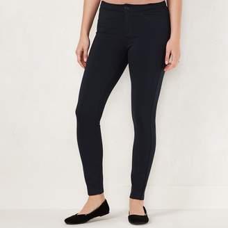 Lauren Conrad Petite Midrise Skinny Ponte Pants