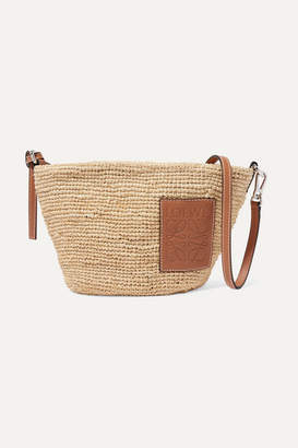 96a1a45e27 Loewe Paula Leather-trimmed Woven Raffia Shoulder Bag - Tan