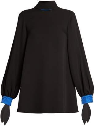 Roksanda Nivala tie-neck silk-georgette blouse