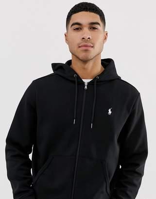 Polo Ralph Lauren Zipthru Hoodie Polo Player In Black
