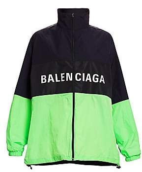 Balenciaga Women's Colorblock Logo Windbreaker