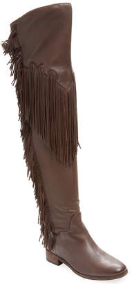 See by Chloe Fringed Leather Over-The-Knee Boot