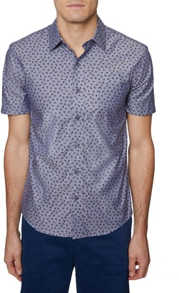 Hickey Freeman Regular-Fit Printed Button-Down Shirt