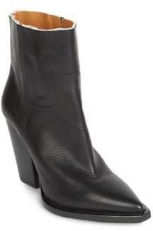 Saint Laurent Theo Raw Leather Booties