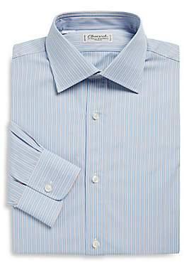Charvet Men's Regular-Fit Striped Poplin Dress Shirt