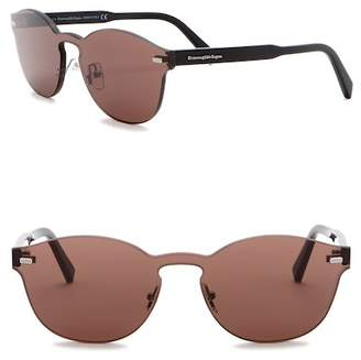 Ermenegildo Zegna 60mm Rimless Round Sunglasses