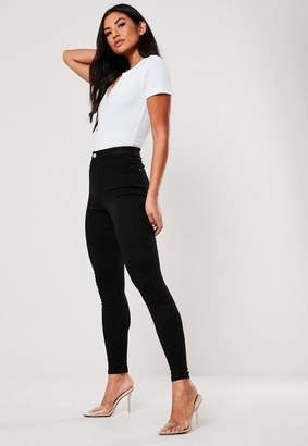 Missguided Black Highwaist Super Stretchy Skinny Jeans