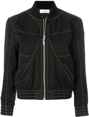 Courreges stitch detail bomber jacket