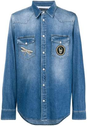 Alexander McQueen faded denim shirt