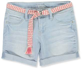 YMI Jeanswear Big Girls' Belted Shorts