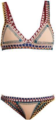 Kiini Mila crochet-trimmed triangle bikini set