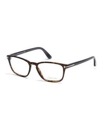 TOM FORD Transparent Havana Eyeglasses, Brown/Blue $385 thestylecure.com